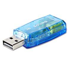 NEDIS USCR10051BU Εξωτερική κάρτα ήχου USB 2.0.