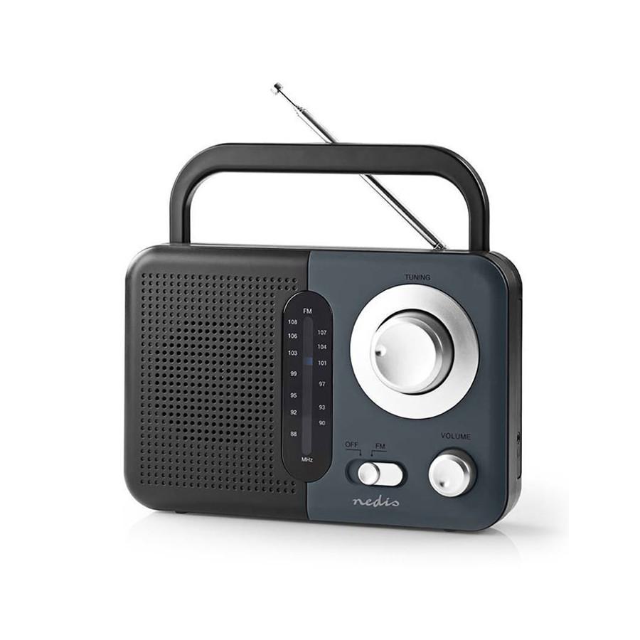 NEDIS RDFM1300GY, Φορητό ραδιόφωνο FM, σε μαύρο/γκρι χρώμα