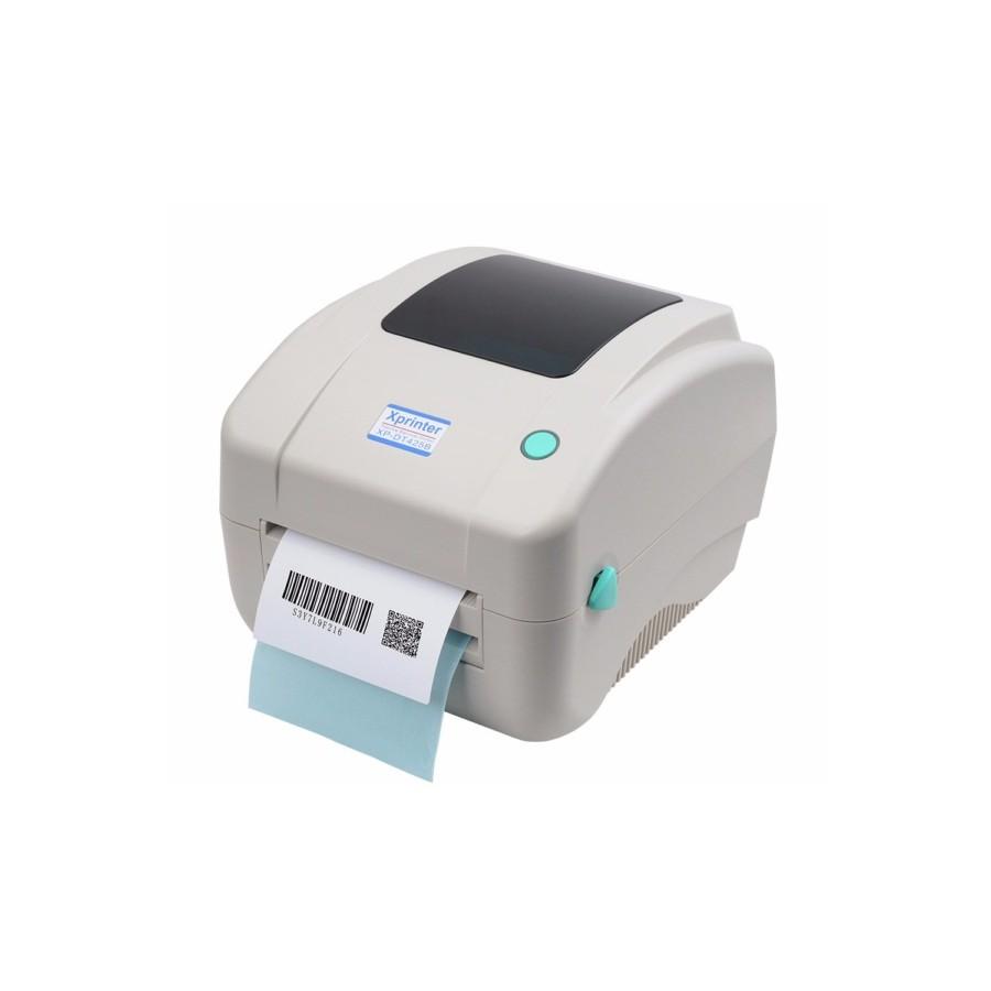 XPRINTER XP-DT425B, Εκτυπωτής Ετικετών, Barcode, Αποδείξεων,Thermodirect,108mm, USB 2,0,Λευκό,71205